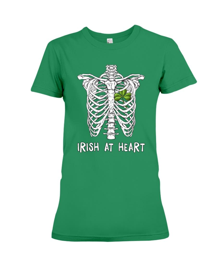 Irish At Heart Premium Fit Ladies Tee