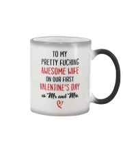 Pretty Awesome Wife First Valentine Color Changing Mug thumbnail