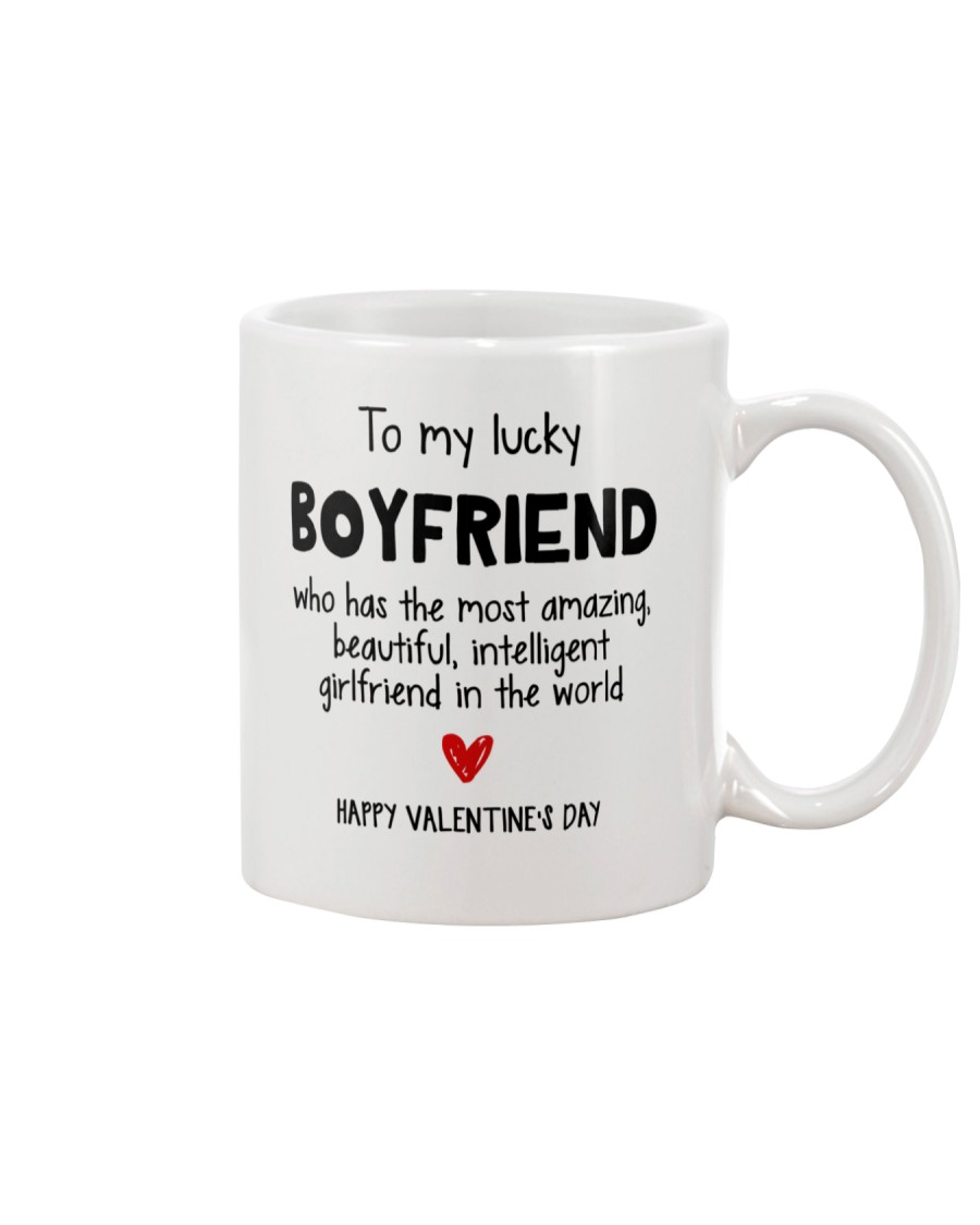 To My Lucky Boyfriend Mug