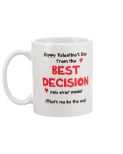 Valentine Best Decision Mug back
