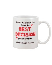 Valentine Best Decision Mug tile