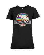 Mama bear LGBT Premium Fit Ladies Tee front