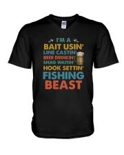 I'm A Fishing Beast V-Neck T-Shirt thumbnail