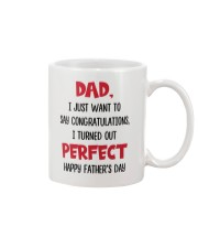 Congratulations Turned Out Perfect Mug front