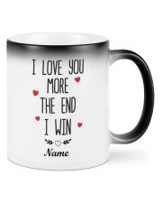 I love You More I Win Personalized Color Changing Mug front