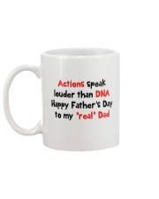 Actions Speak Louder Than DNA Mug back