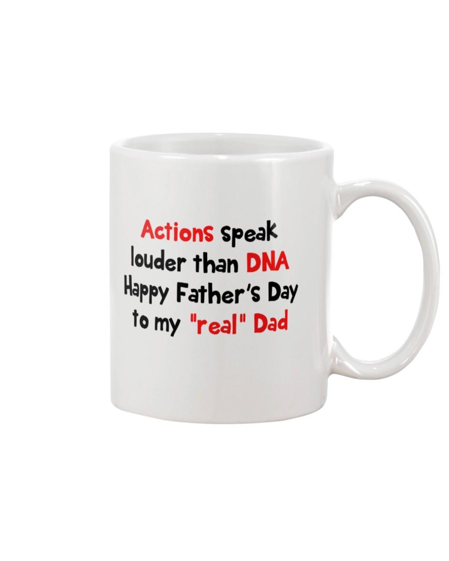 Actions Speak Louder Than DNA Mug