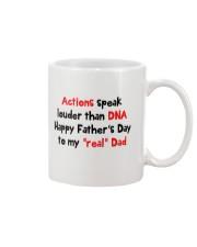 Actions Speak Louder Than DNA Mug front