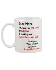 Mom Thanks For Food Clothes Mug back
