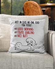"""In case No One Told You Today Indoor Pillow - 16"""" x 16"""" aos-decorative-pillow-lifestyle-front-04"""