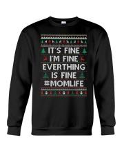 Everthing Fine Momlife Crewneck Sweatshirt thumbnail