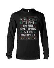 Everthing Fine Momlife Long Sleeve Tee front