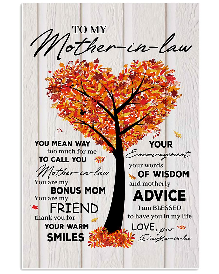 To My Mother-in-law 11x17 Poster
