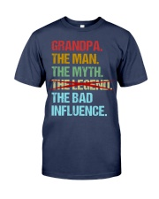 Grandpa Legend Bad Influence Premium Fit Mens Tee front