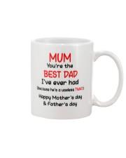 MUM YOU'RE THE BEST DAD AUS Mug front