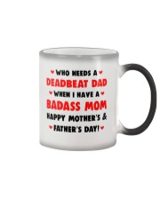Who Needs A Deadbeat Dad  Color Changing Mug tile
