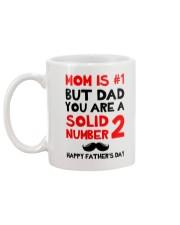 Dad Solid Number 2 Mug back