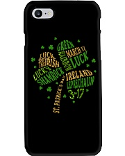 Shamrock Typography Phone Case thumbnail