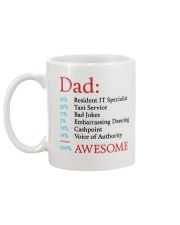 100 Percent Awesome Dad Mug back