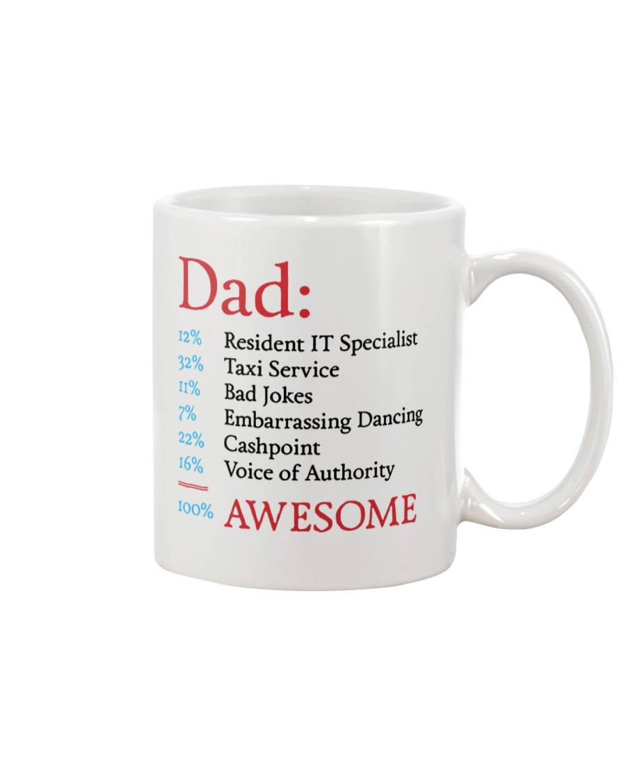 100 Percent Awesome Dad Mug