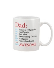 100 Percent Awesome Dad Mug front