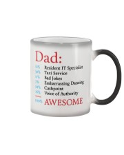 100 Percent Awesome Dad Color Changing Mug thumbnail