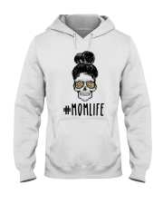Skull Momlife Hooded Sweatshirt thumbnail