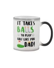 Takes Balls To Play Golf Like Dad Color Changing Mug thumbnail