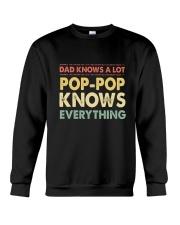 Dad Knows A Lot Pop-pop Knows Everything Crewneck Sweatshirt thumbnail