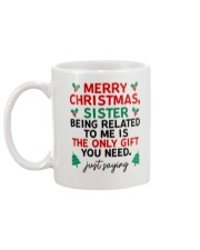 Being Related To Me Is The Only Gift You Need Mug back