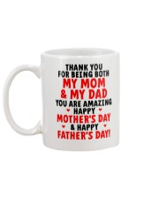 Being Mom And Dad Mug back