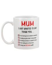 Thanks Mum List  Mug back