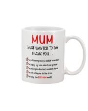 Thanks Mum List  Mug front