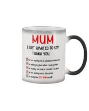 Thanks Mum List  Color Changing Mug thumbnail