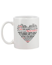 Dad Heart Shaped  Mug back