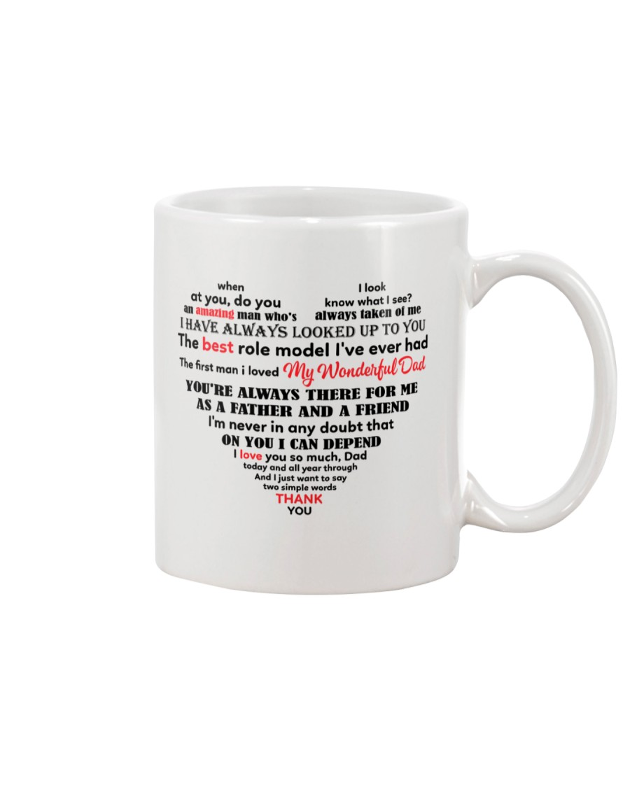 Dad Heart Shaped  Mug