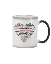 Dad Heart Shaped  Color Changing Mug tile