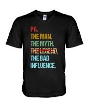 Pa Bad Influencer V-Neck T-Shirt thumbnail