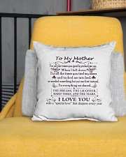 """To My Mother Indoor Pillow - 16"""" x 16"""" aos-decorative-pillow-lifestyle-front-01"""