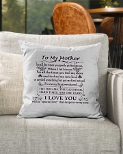 """To My Mother Indoor Pillow - 16"""" x 16"""" aos-decorative-pillow-lifestyle-front-04"""