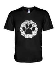 Dog Paw Clover V-Neck T-Shirt thumbnail