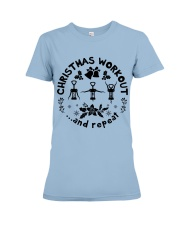 Christmas Workout Premium Fit Ladies Tee thumbnail