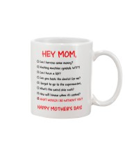 What Do Without Mom Mug front