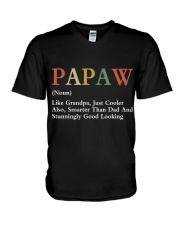 Papaw Retro Good Looking V-Neck T-Shirt thumbnail