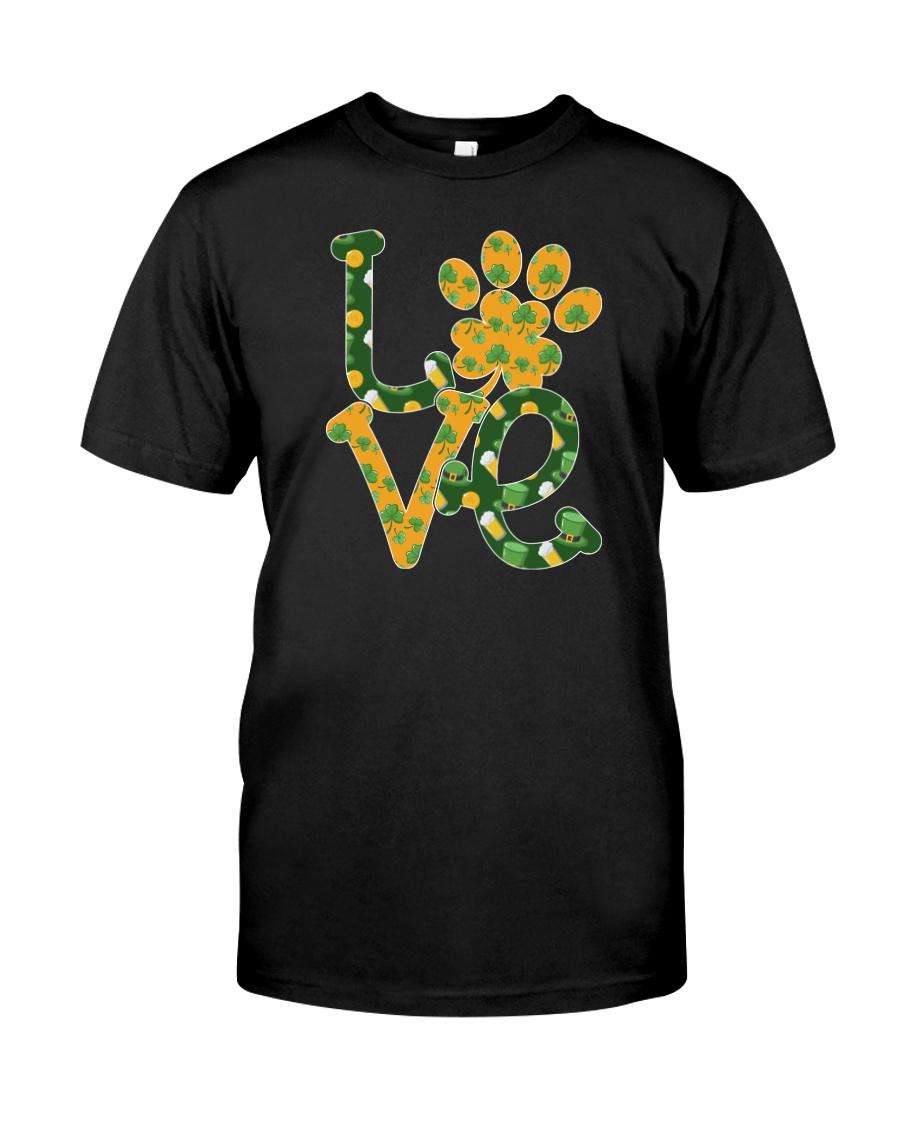 Dog Love St Patrick  Classic T-Shirt