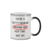 Pretty Freaking Awesome Dad Keep Up  Color Changing Mug thumbnail