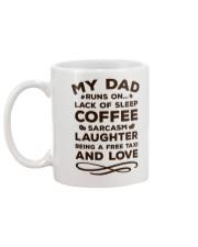 Dad Run On  Mug back