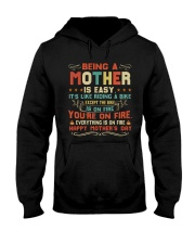Being A Mother Is Easy Hooded Sweatshirt thumbnail