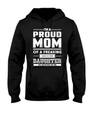 Proud Mom Of Freaking Awesome Daughter  Hooded Sweatshirt thumbnail
