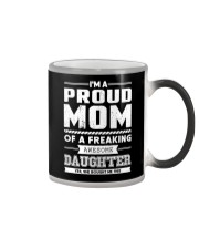 Proud Mom Of Freaking Awesome Daughter  Color Changing Mug thumbnail